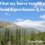 What my horse taught me about leprechauns and fear