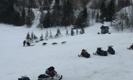 Snowmobiling from lodge to lodge