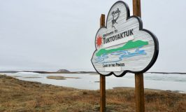 Driving new road to Tuktoyaktuk